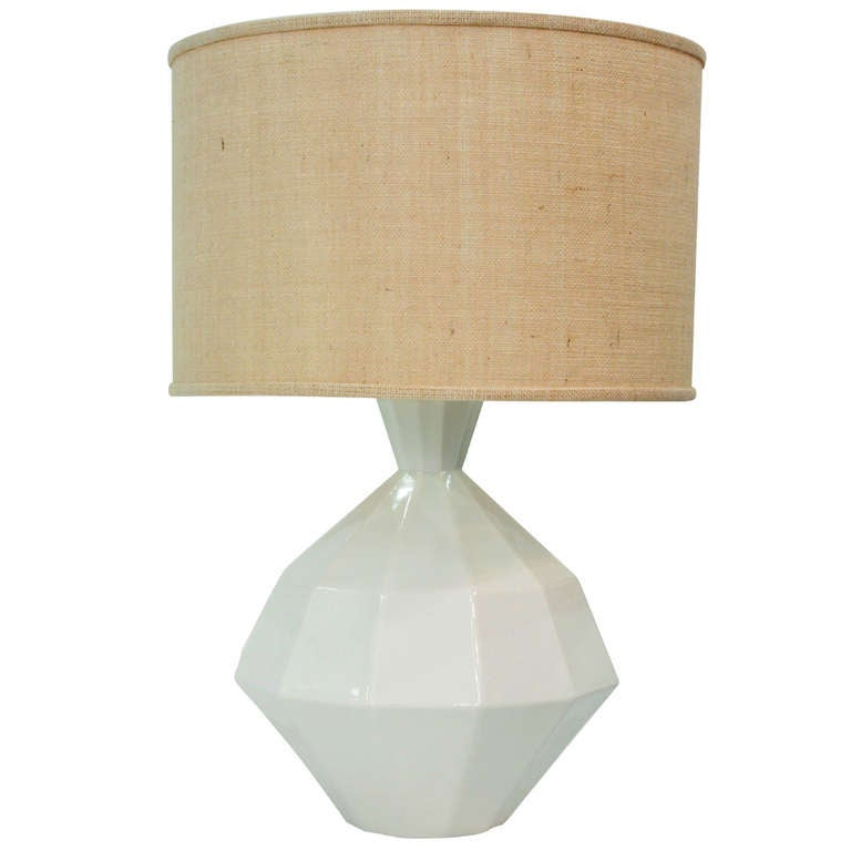 this architectural white ceramic table lamp is no longer available. Black Bedroom Furniture Sets. Home Design Ideas