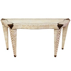 Exquisite Console Table in Tessellated Marble by Merle Edelman for Casa Bique