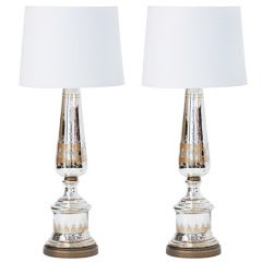 pair of large mercury glass table lamps - Mercury Glass Lamps