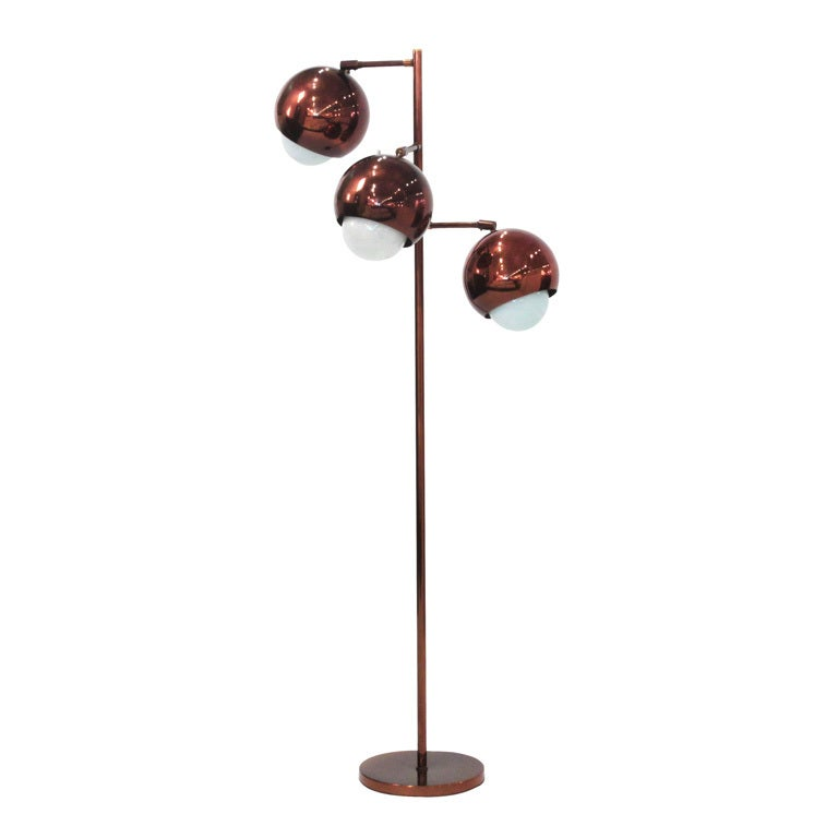 Floor lamp in copper by koch and lowy at 1stdibs for Copper floor lamp adelaide