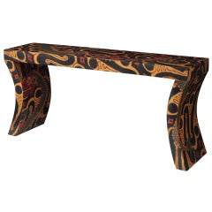 """Chic """"Reed Style Console"""" by Karl Springer"""