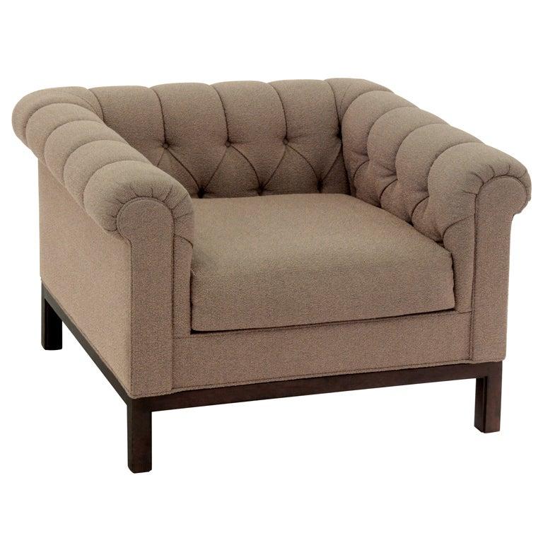 Tufted Club Chair by Dunbar at 1stdibs