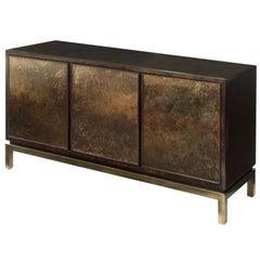 Commode with Acid Washed Bronze Doors by John Widdicomb