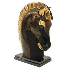 Exceptional Porcelain Horse Head Sculpture