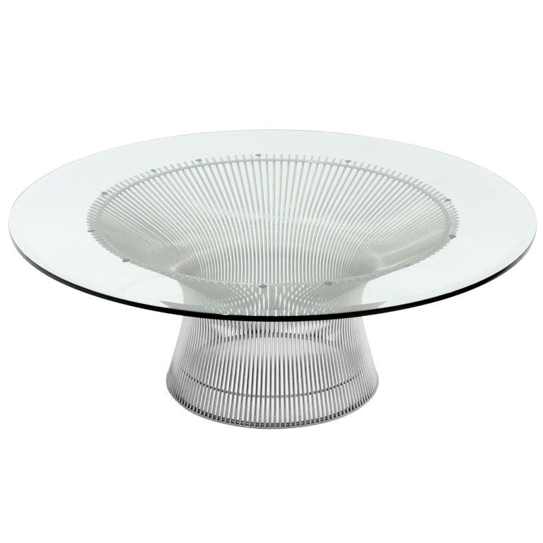 welded chrome coffee table by warren platner at 1stdibs