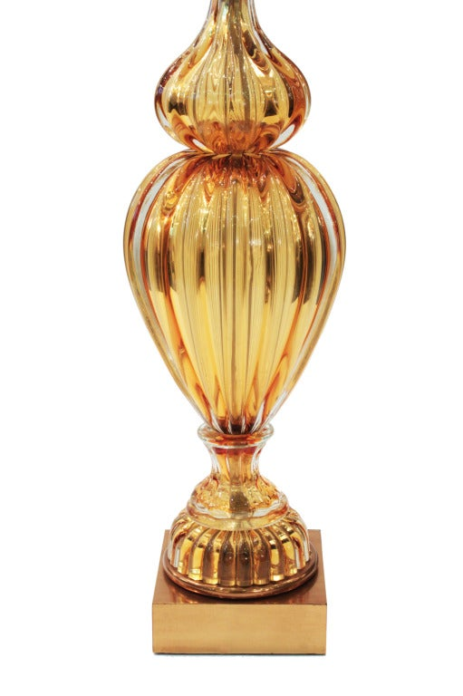Exceptional Handblown Glass Table Lamp by Seguso In Excellent Condition For Sale In New York, NY