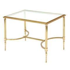 Coffee Table in Satin and Polished Brass