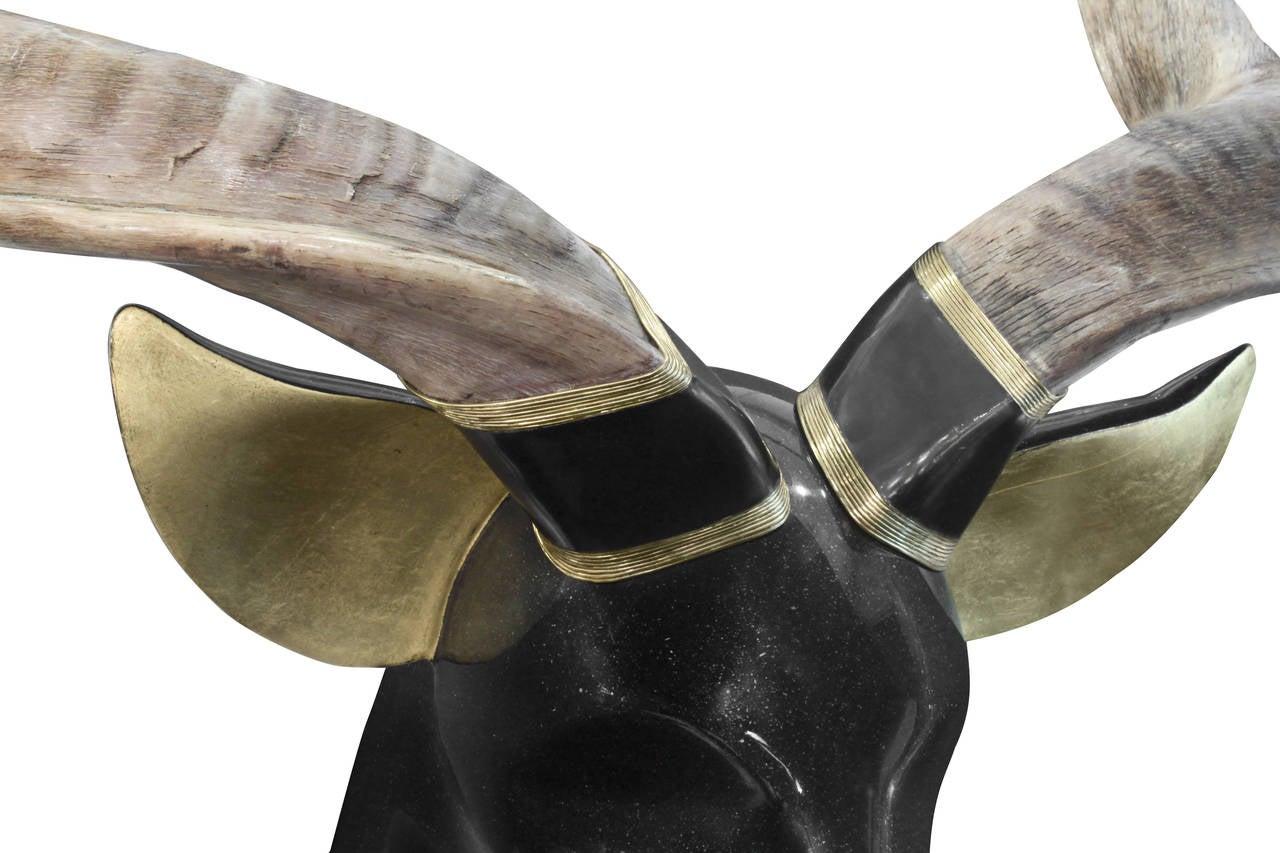 American Large Stag Sculpture by Roberto Estevez for Karl Springer For Sale