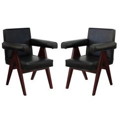 "Pair of ""Committee"" Armchairs by Pierre Jeanneret"