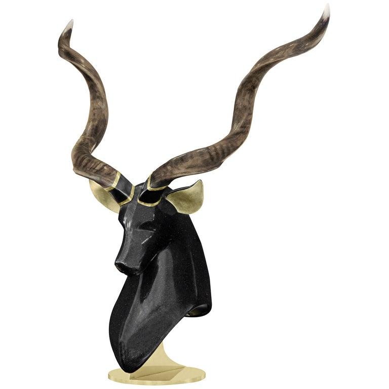 Large Stag Sculpture by Roberto Estevez for Karl Springer For Sale