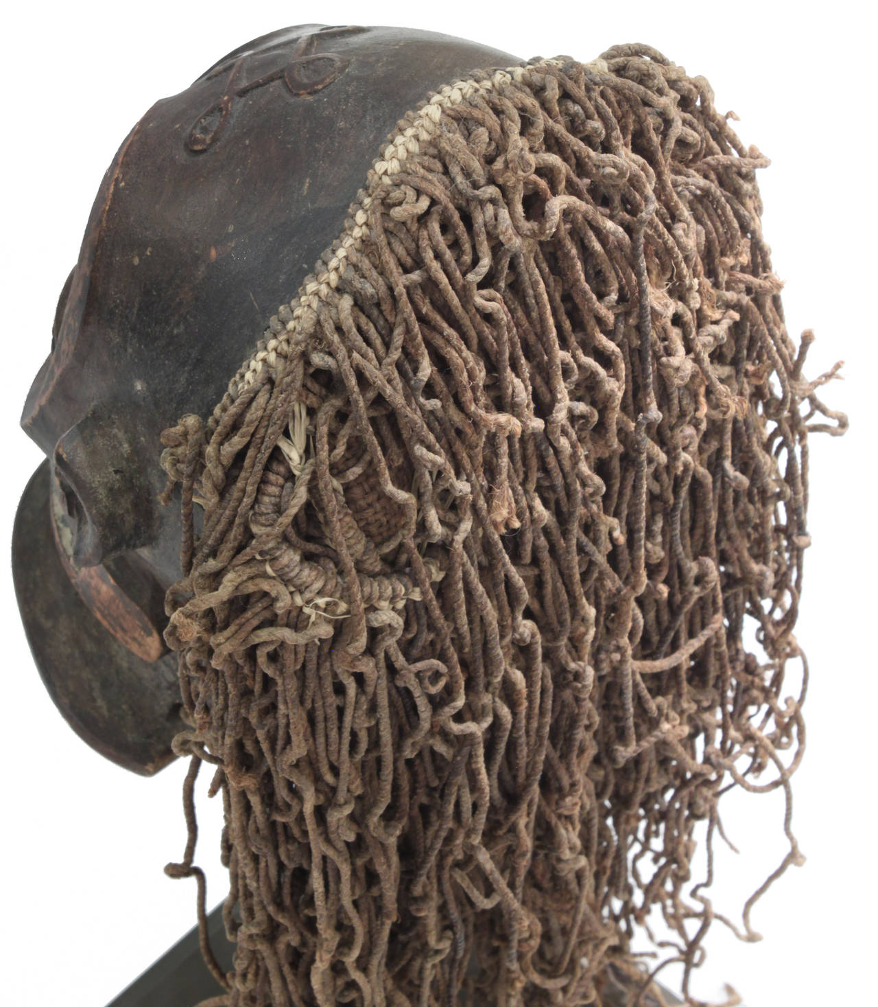Late 20th Century Hand-Carved African Mask on Bronze Base by Karl Springer For Sale