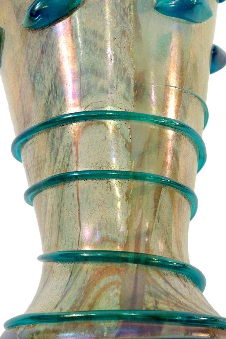 Large Handblown Glass Vase by  A.V.E.M.	  In Excellent Condition For Sale In New York, NY