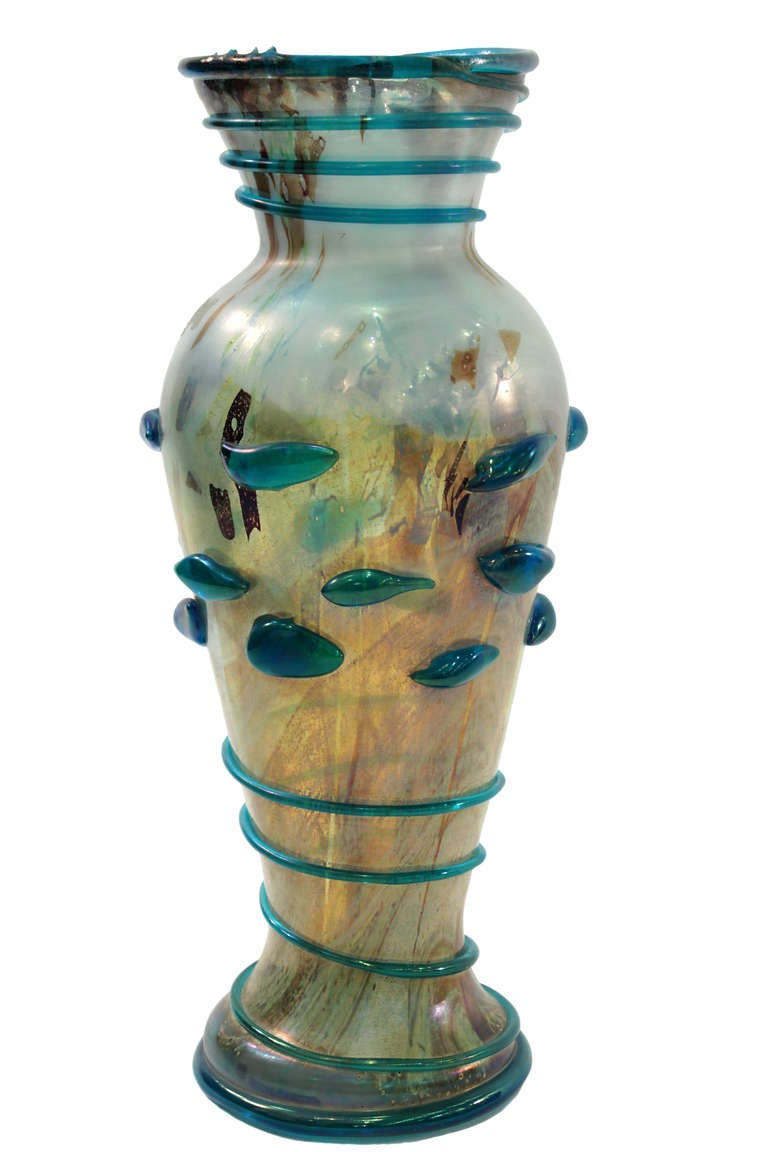 Mid-Century Modern Large Handblown Glass Vase by  A.V.E.M.	  For Sale