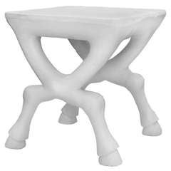 Hoofed Table in Plaster by John Dickinson