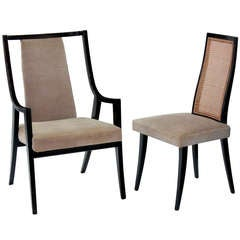 """Set of 8 """"Classic"""" Dining Chairs in Mahogany by Harvey Probber"""