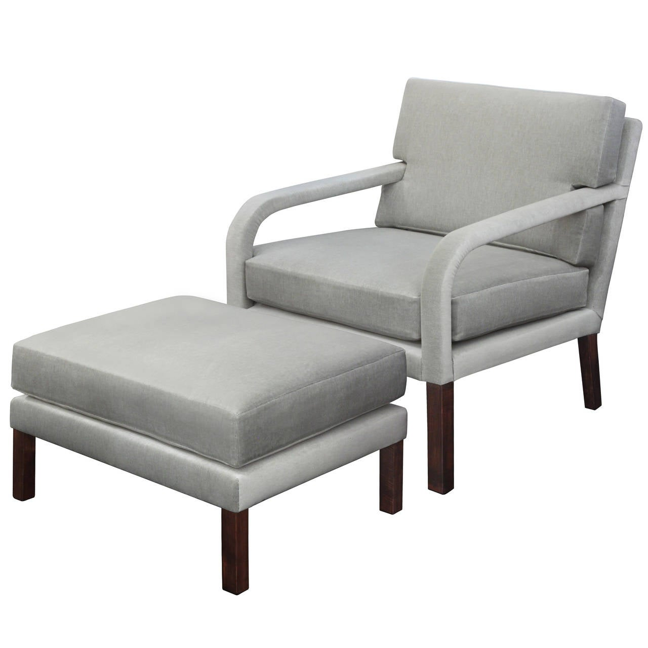 chair and ottoman with upholstered arms by directional