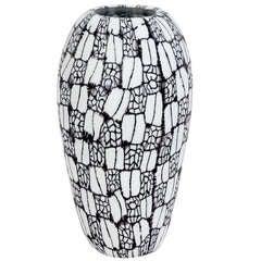 Hand-blown Glass Vase with Hand-made Muhrines by Vittorio Ferro
