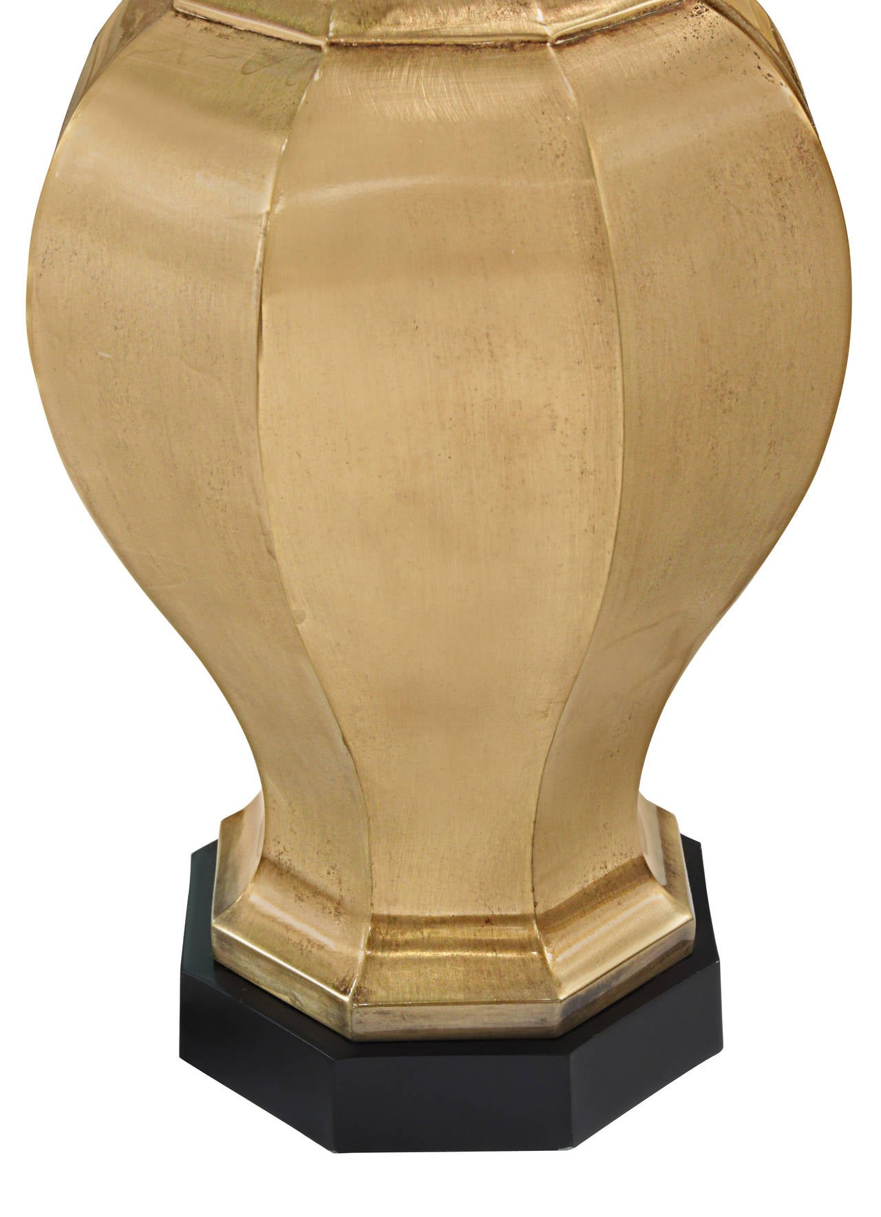 Hand-Crafted Pair of Table Lamps in Satin Brass by Chapman Lighting For Sale