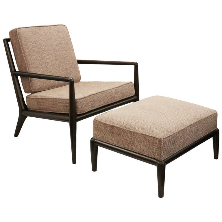 Lounge chair and matching ottoman by t h robsjohn for Matching lounge furniture