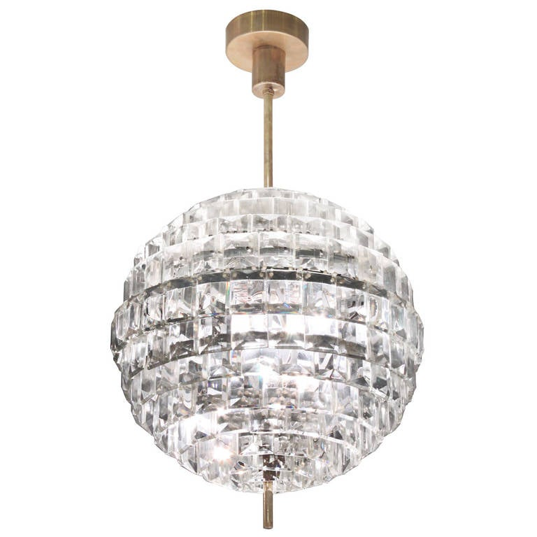 Spectacular Crystal Sphere Chandelier For Sale Spectacular