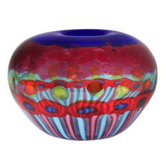 Exceptional Handblown Glass Vessel by Anzolo Fuga for A.V.E.M 1958-68