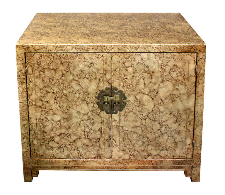 Asian Style Cabinet with Oil Lacquer Finish by Henredon at 1stdibs