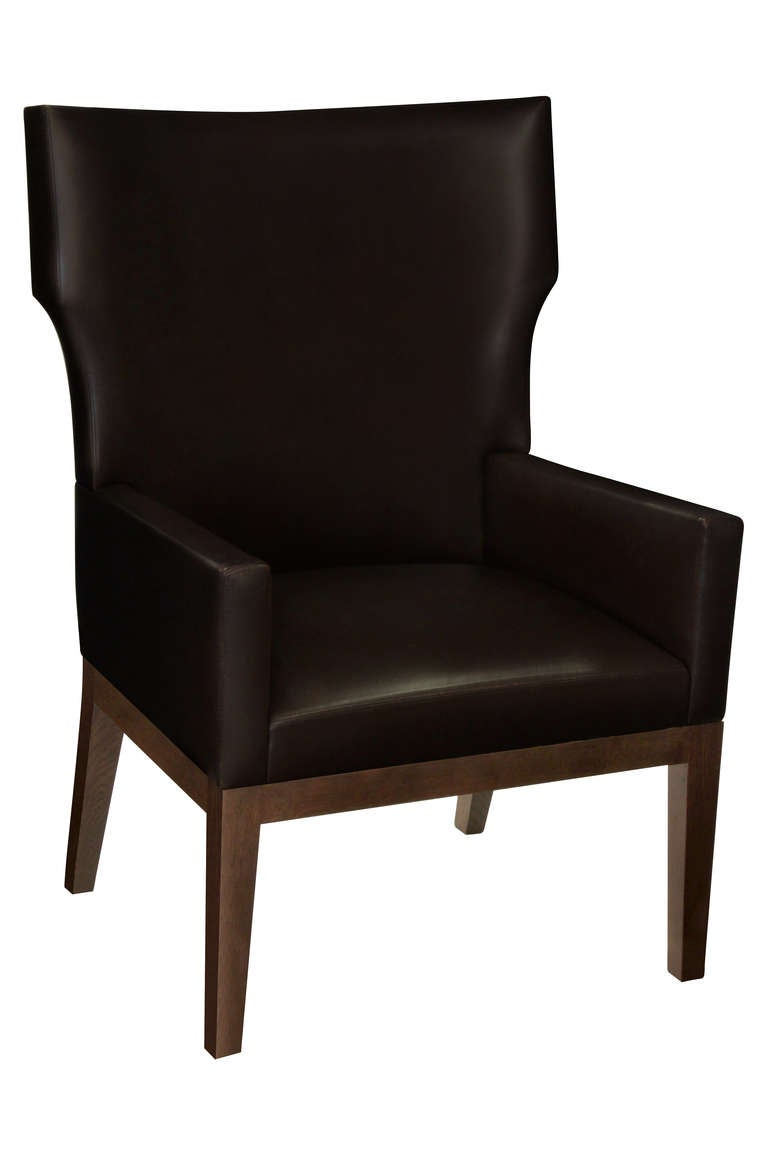 """Barbuda"" Chair and Ottoman by Christian Liaigre at 1stdibs"