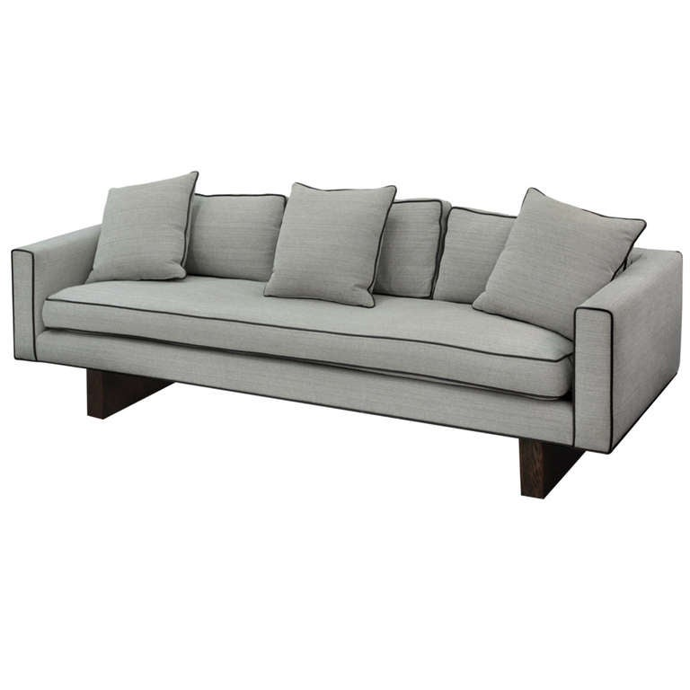 Clean Line Sofa With Ash Slab Legs By Harvey Probber