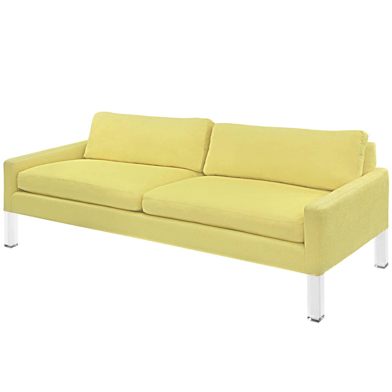 Clean Line Sofa With Solid Lucite Legs For Sale At 1stdibs