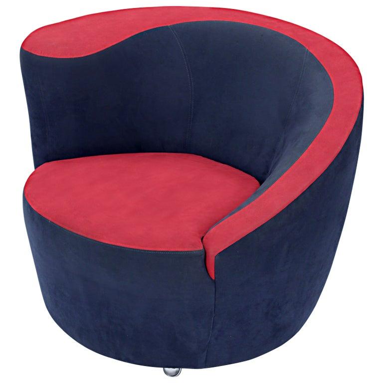 "Swiveling Sculptural ""Cork Screw Chair"" by Vladimir Kagan For Sale"