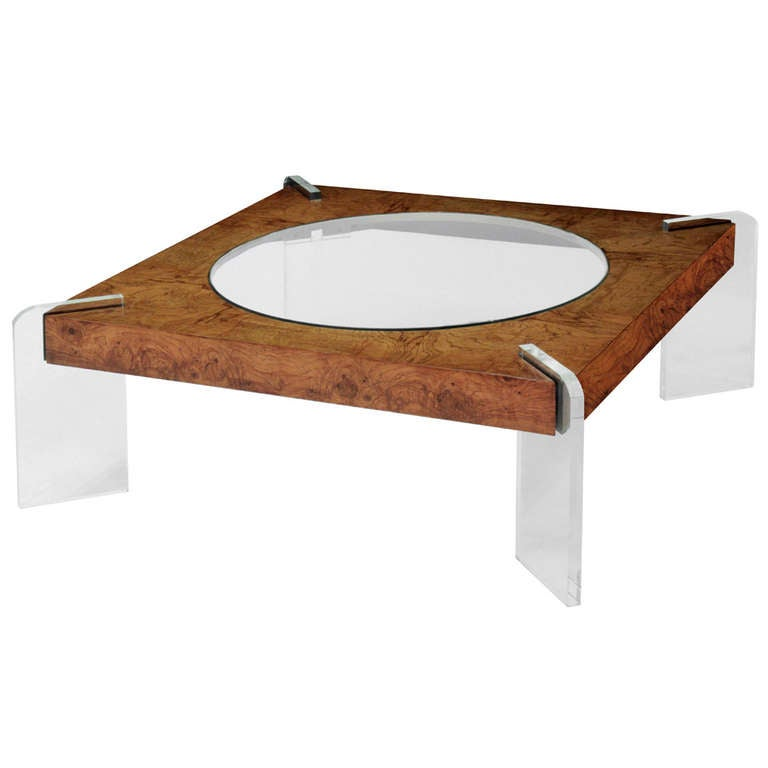 Burled Walnut Coffee Table By Vladimir Kagan At 1stdibs