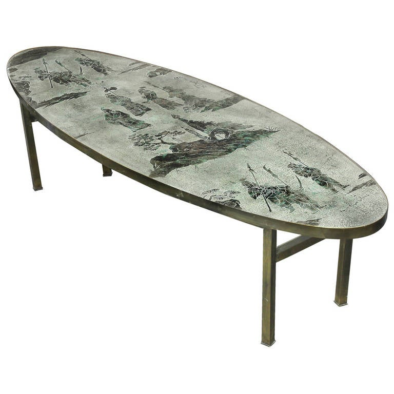 Rare Ming Coffee Table By Philip And Kelvin Laverne At 1stdibs