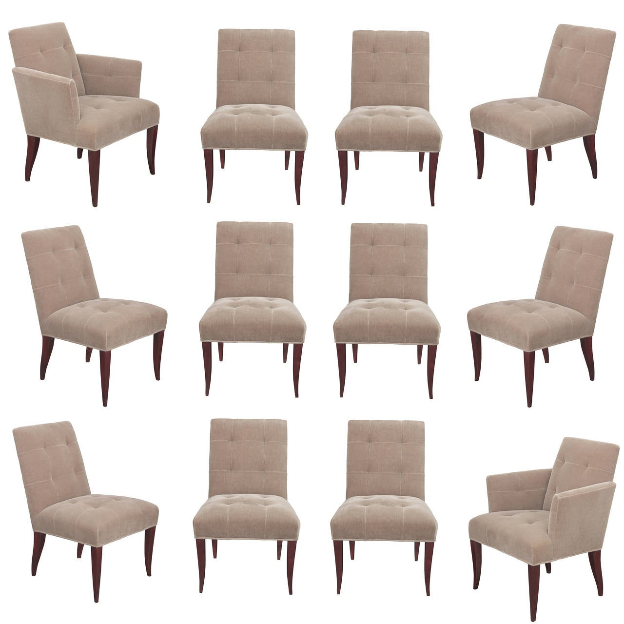 Set Of 12 Eaton Dining Chairs By John Hutton For Donghia 1