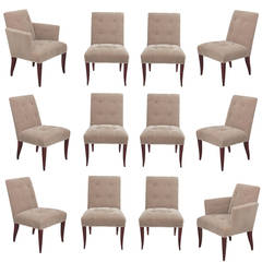Set of 12 Eaton Dining Chairs by John Hutton for Donghia