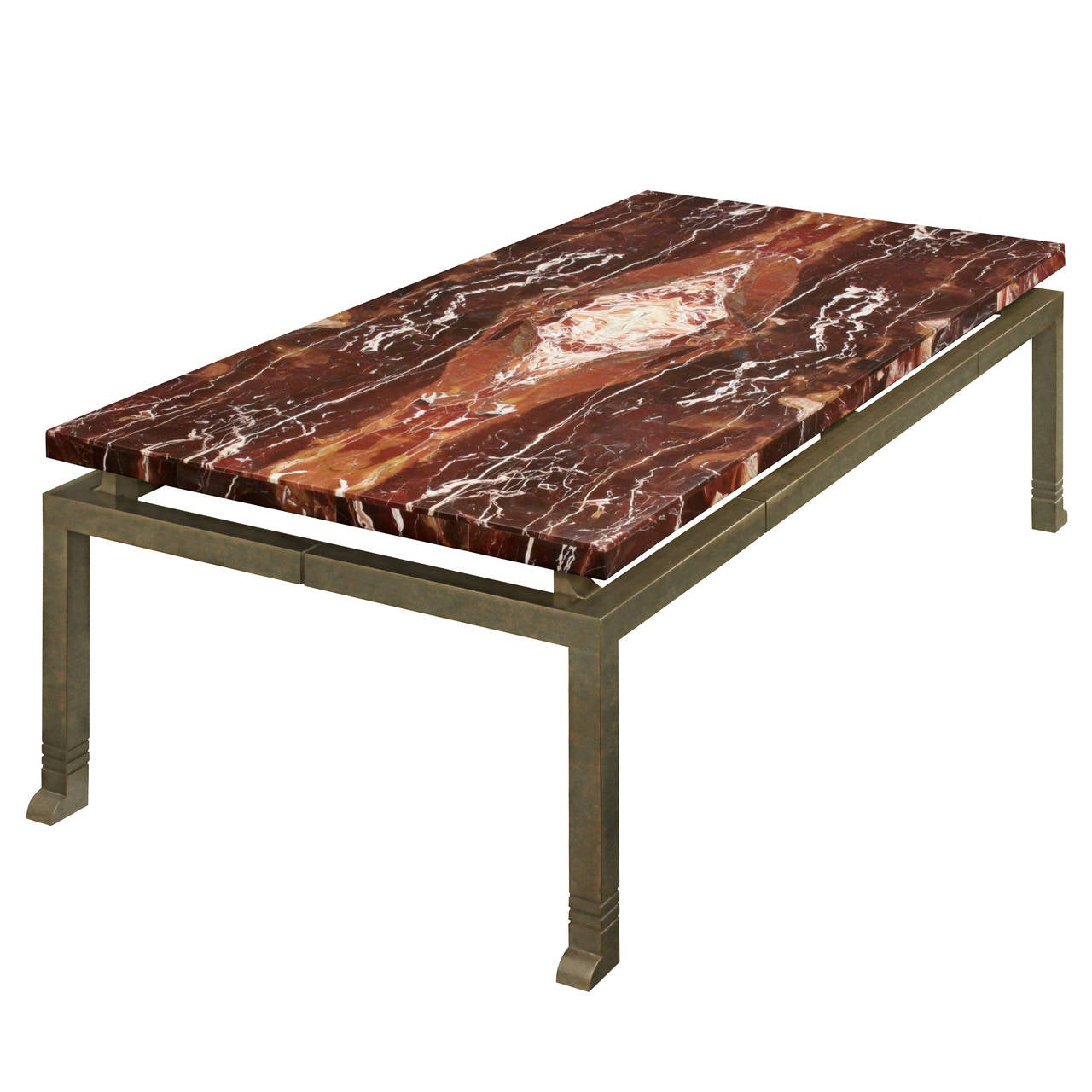 Athena cocktail table with beautiful marble top by lorin for Marble top coffee table