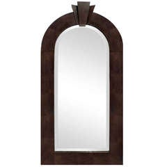 """Dome Top Art Deco Mirror"" in Lizard Skin by Karl Springer"