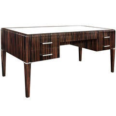 """Sun Star Desk"" in Mirror Polished Macassar Ebony by Evan Lobel"