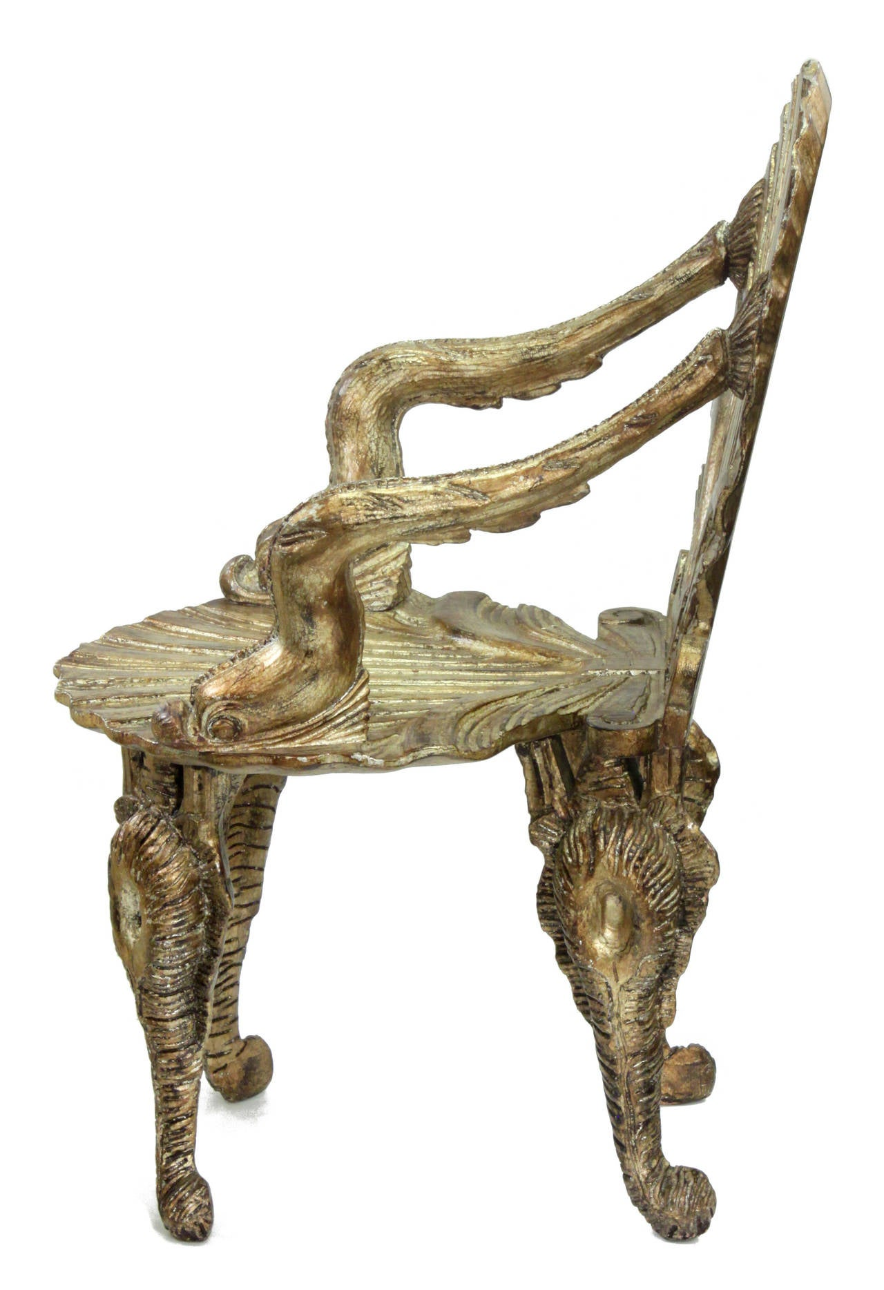 Ordinaire Set Of Six Extraordinary Gilded Grotto Chairs By David Barrett In Excellent  Condition For Sale In