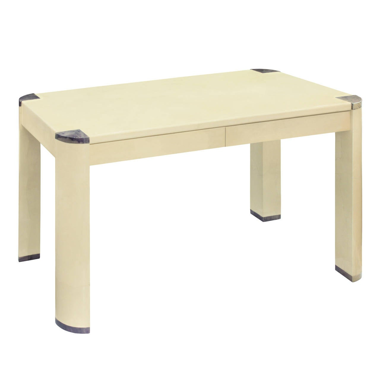 """Radius Leg Writing Desk"" in Lacquered Goatskin by Karl Springer"