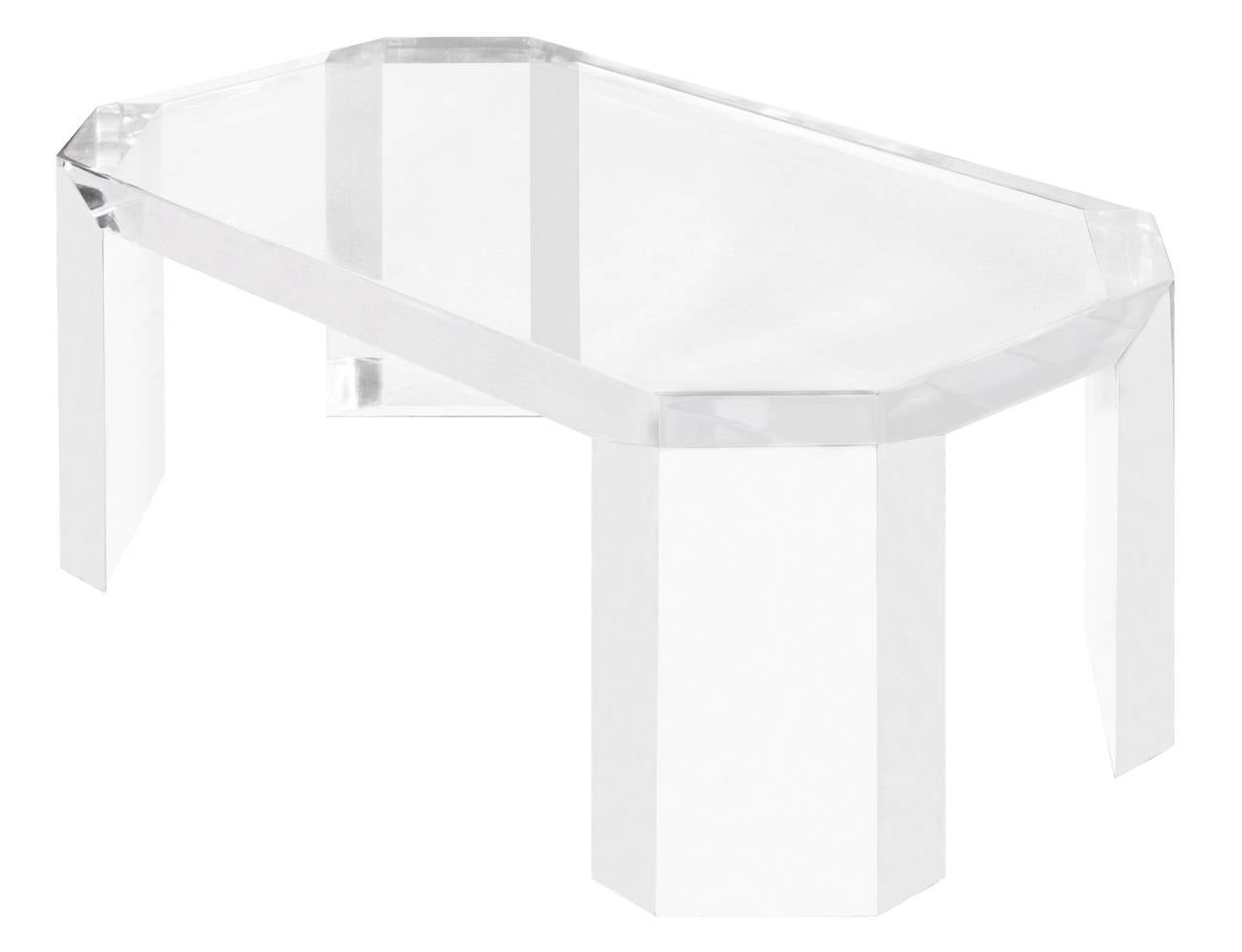 Design Lucite Coffee Table elegant coffee table in thick lucite by charles hollis jones at 3