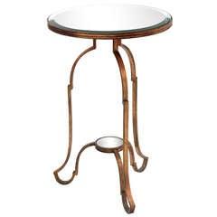 Elegant Gilded Side Table, 1960s