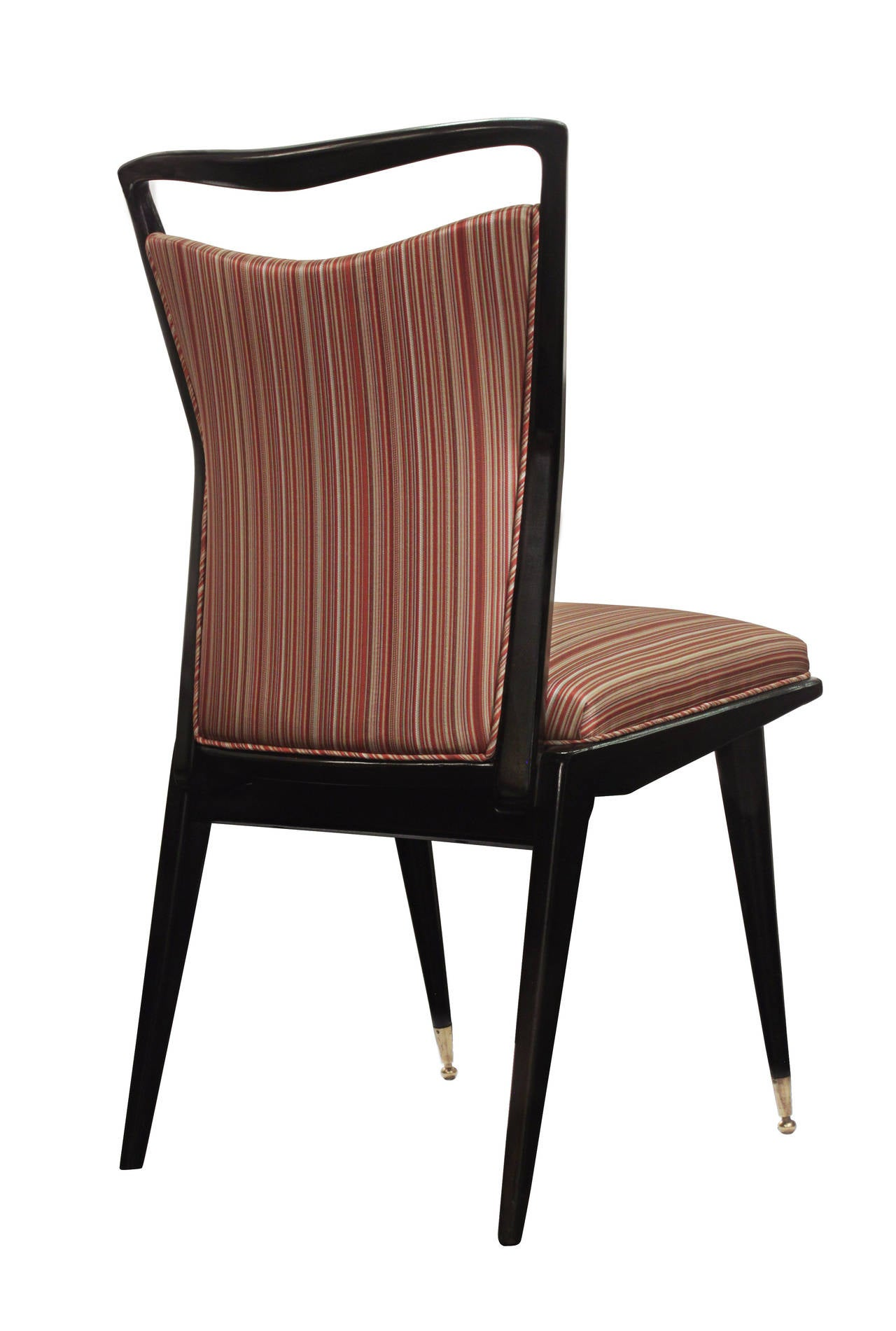 Set of six sculptural italian dining chairs for sale at for Set of 6 dining chairs
