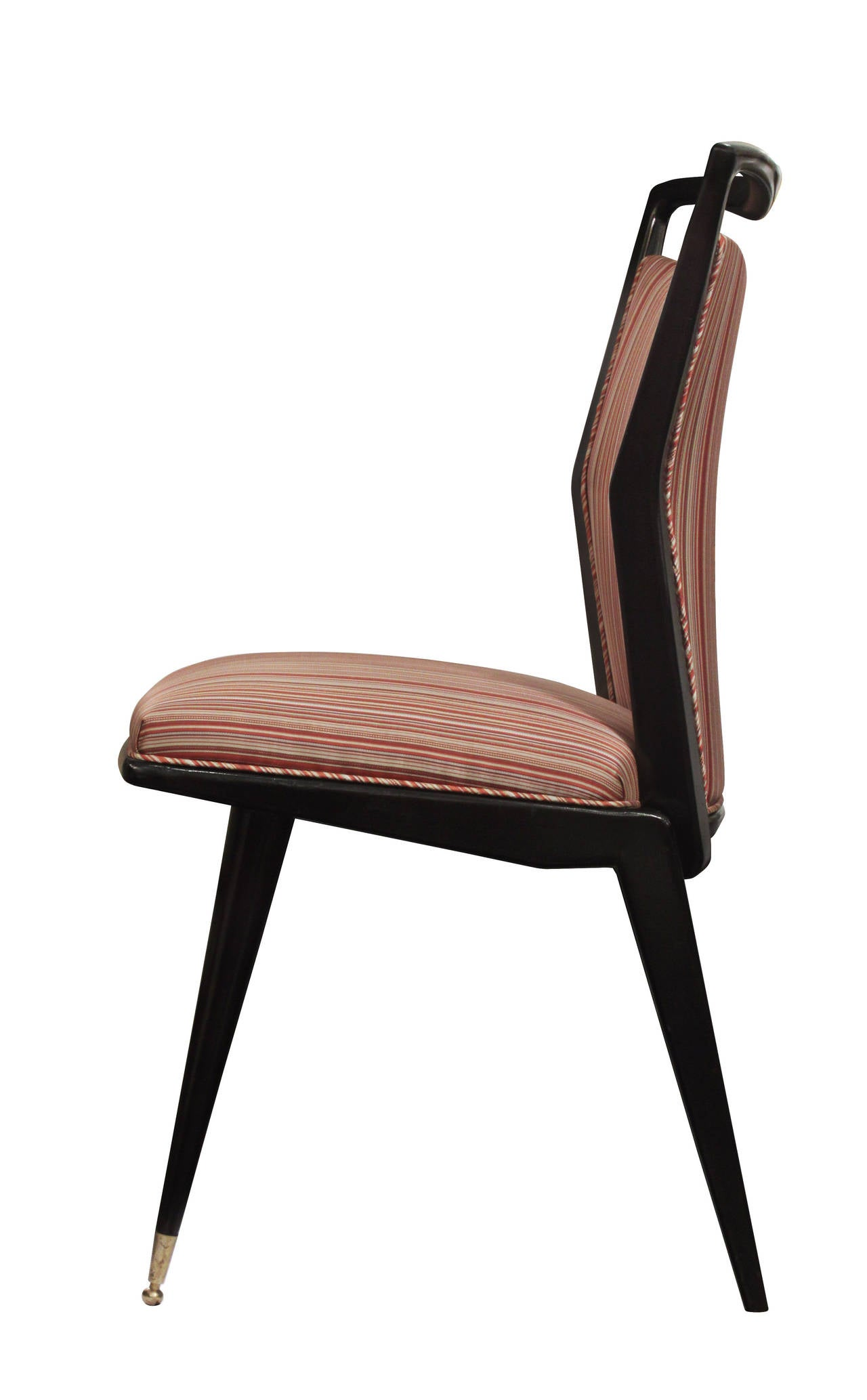 Set of Six Sculptural Italian Dining Chairs In Excellent Condition In New York, NY