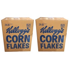AN AWESOME PAIR OF WARHOL INSPIRED KELLOGG'S CORN FLAKES BOXES