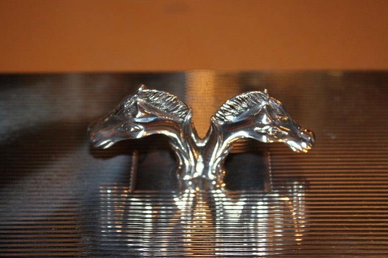 French Hermes Horse Head Box  For Sale