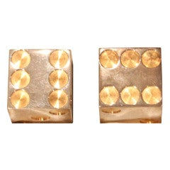 Sterling Silver and Gold Bulgari Dice in Original Box