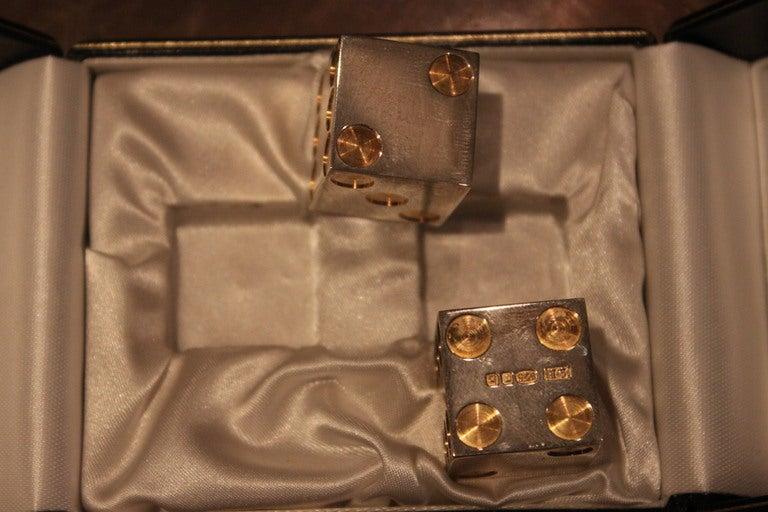 Sterling Silver and Gold Bulgari Dice in Original Box 3