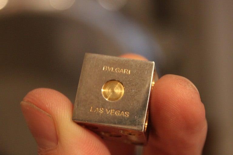 Sterling Silver and Gold Bulgari Dice in Original Box 6