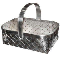 Giant Cartier Sterling Basket