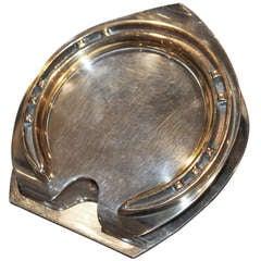 Hermes Sterling Silver Horse Shoe Paper Holder